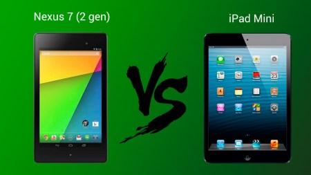 Comparativa entre la nueva Nexus 7 y iPad Mini