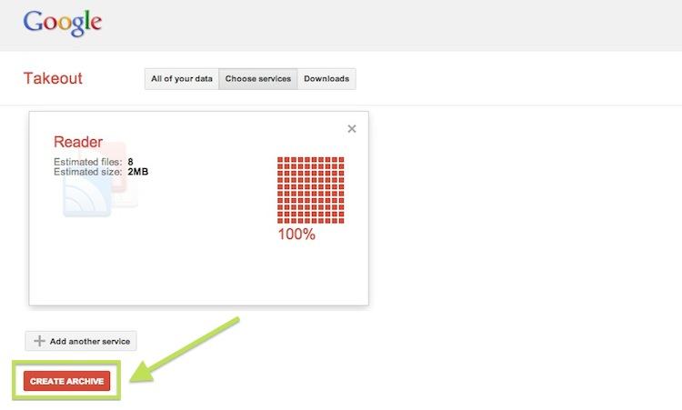 Google Reader muere hoy, no te olvides de respaldar tu información - Respaldar-datos-Reader