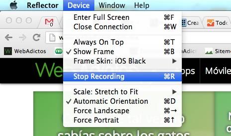 Graba lo que haces en la pantalla de tu iPhone o iPad, y mucho más con Reflector - screencast-iphone-reflector