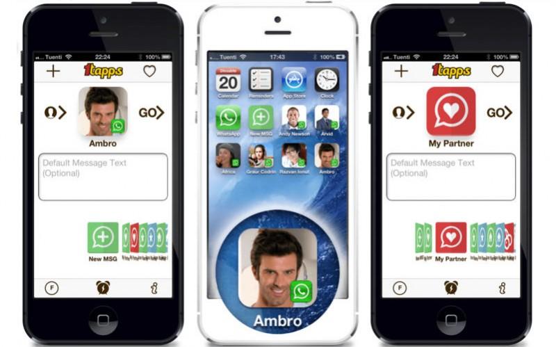 1TapWA 800x499 Añade tus contactos de WhatsApp a la pantalla de inicio de tu iPhone