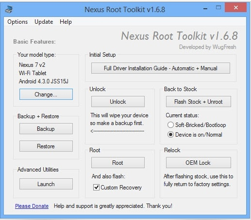 Rootea tu dispositivo Nexus con Android 4.3 con Nexus Root Toolkit - Nexus-Root-Toolkit