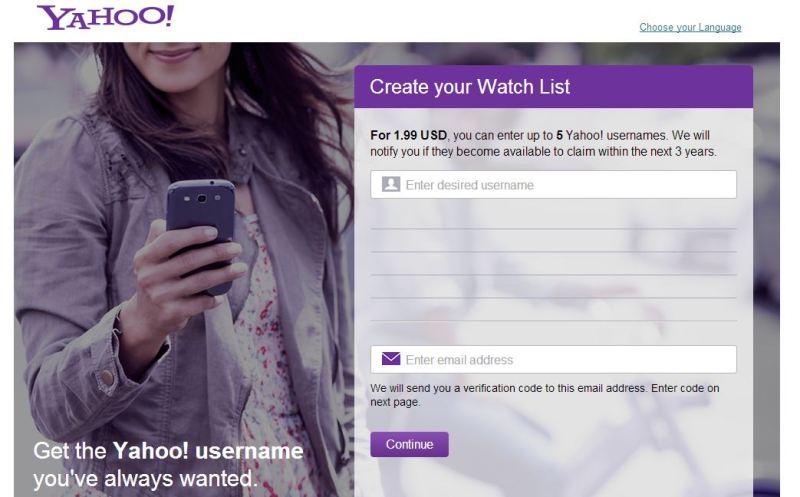 Yahoo inicia el reciclaje de IDs abandonados