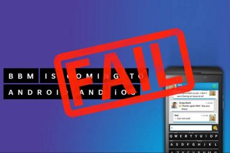 BlackBerry no da un golpe y retrasa indefinidamente el lanzamiento de BBM para Android
