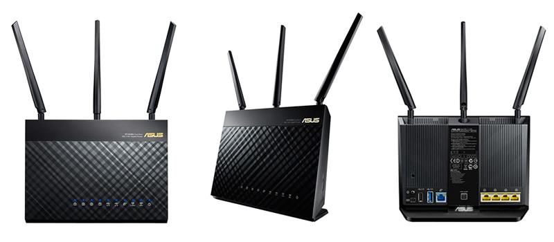 Nuevo Router Doble banda Gigabit RT-AC68U Wireless-AC1900 de ASUS - RT-AC68U
