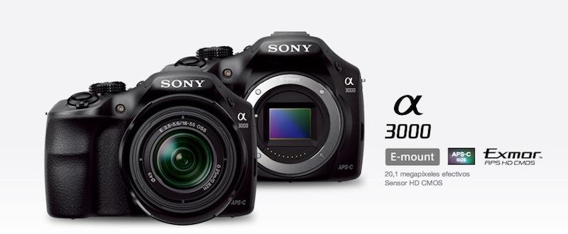 Sony Alpha a3000 Sony Alpha a3000 con Montura E está de preventa en México