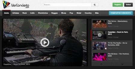 Ver conciertos online completos en VerConcierto.com