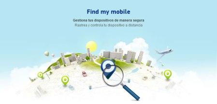 Rastrear tu celular Samsung y bloquearlo a distancia con Findmymobile