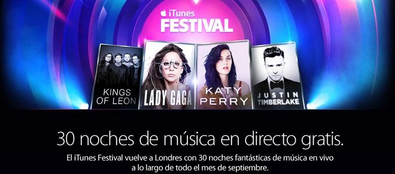 itunes festival gratis ¿Qué hacer en internet este fin de semana? (21 y 22 de Septiembre 2013)
