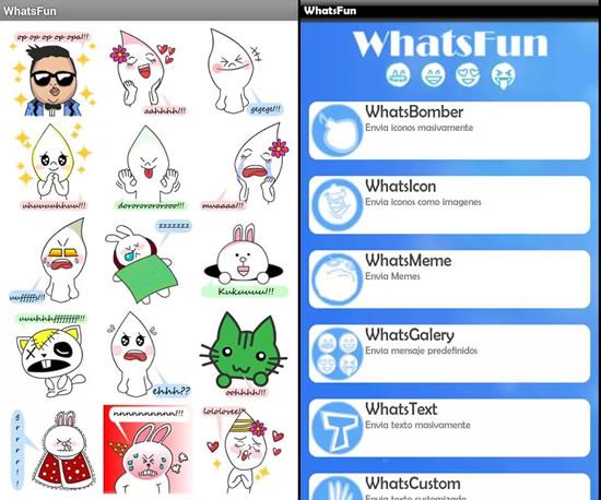 Apps para complementar WhatsApp en Android - whatsfun-smiley