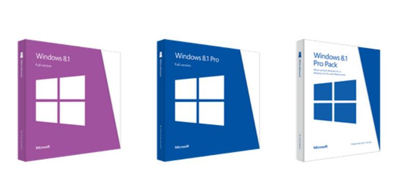 Ya disponibles los precios de Windows 8.1 y los diseños de sus cajas - windows.81