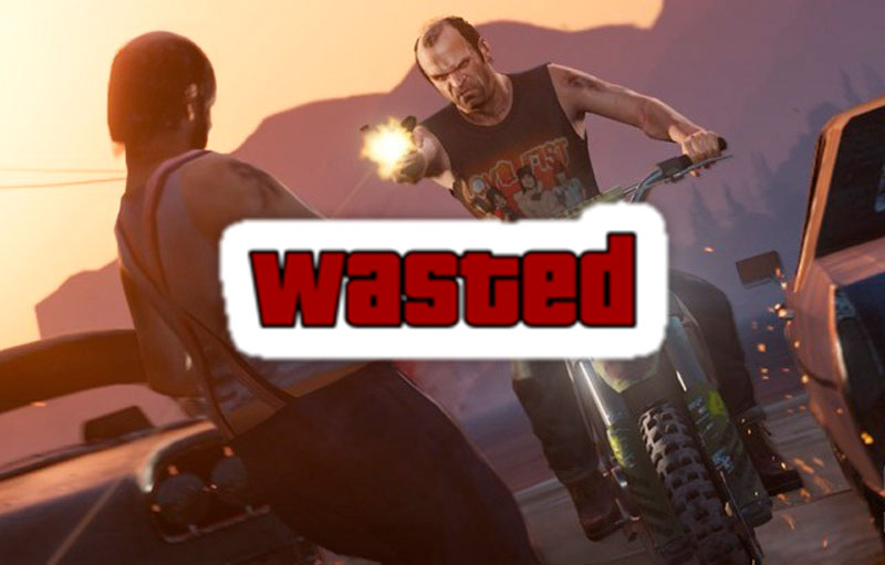 100 maneras de morir en Grand Theft Auto 5 - GTA-v-wasted