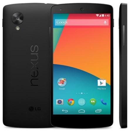 Es oficial: Nexus 5 llega con el mejor hardware posible a un precio de 349 dólares