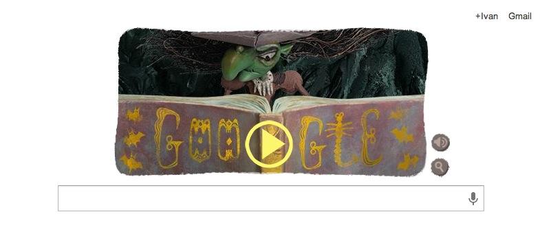 Juega a ser un brujo con el doodle conmemorativo a Halloween de Google - Noche-de-brujas-doodle