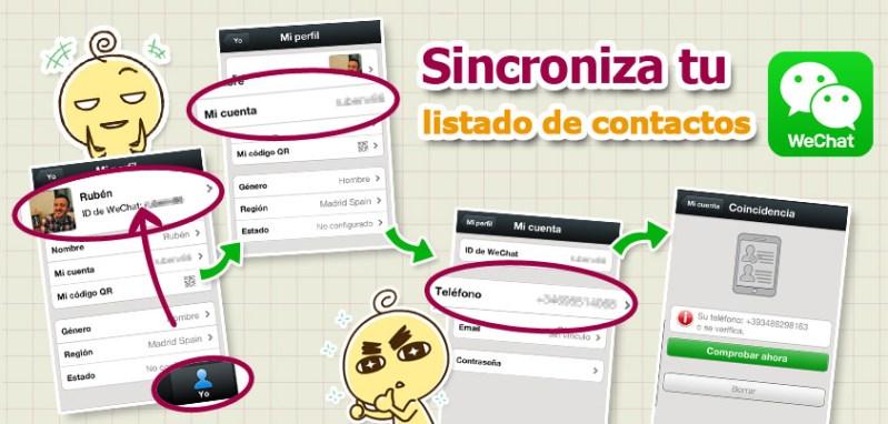 WeChat presenta nuevas características y mayor seguridad - Sync-up-Mobile-contact-list