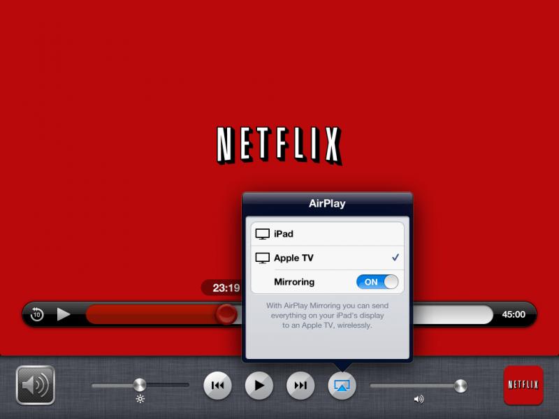 ipad airplay netflix 800x600 Netflix para iOS ahora reproduce contenido en HD y a través de AirPlay