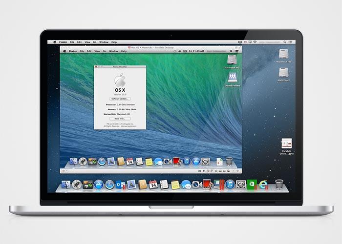 Cómo instalar OS X Mavericks desde cero con una memoria USB - parallels-mavericks