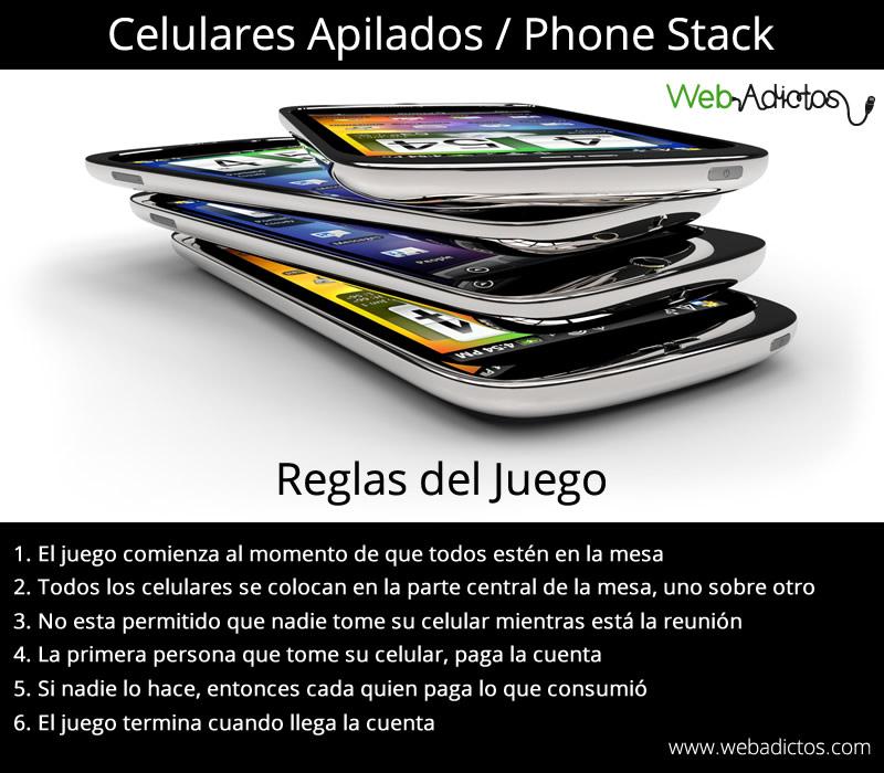 Phone Stack, un juego que deberían practicar en sus reuniones - phone-stack-juego-celulares