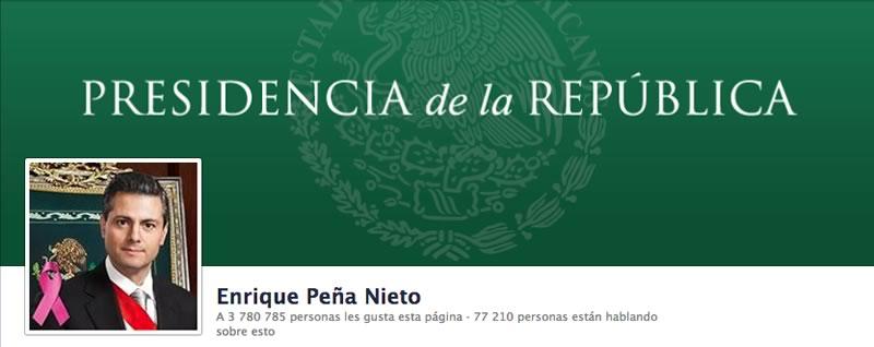 Los políticos mexicanos con más seguidores en Twitter y Facebook - presidente-pena-nieto-facebook