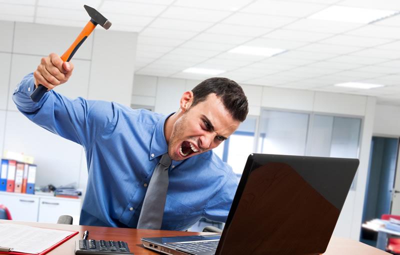 problemas computadora Las mayores frustraciones frente a la computadora [Infografía]