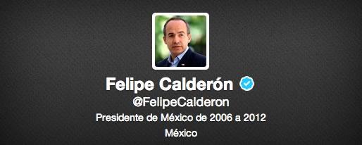 Los políticos mexicanos con más seguidores en Twitter y Facebook - twitter-felipe-calderon