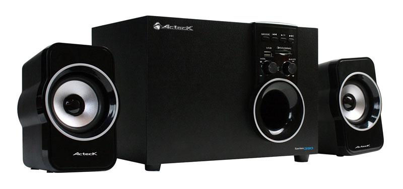 AXF 390 especial Nuevo sistema de Audio Multimedia 2.1 de Acteck que ofrece una experiencia auditiva de alto nivel