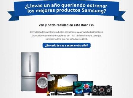 Promociones del Buen Fin 2013 de Samsung