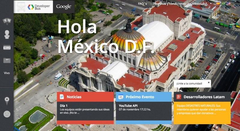 La combi de Google llega a México para desarrollar aplicaciones - Google-Developers-Bus