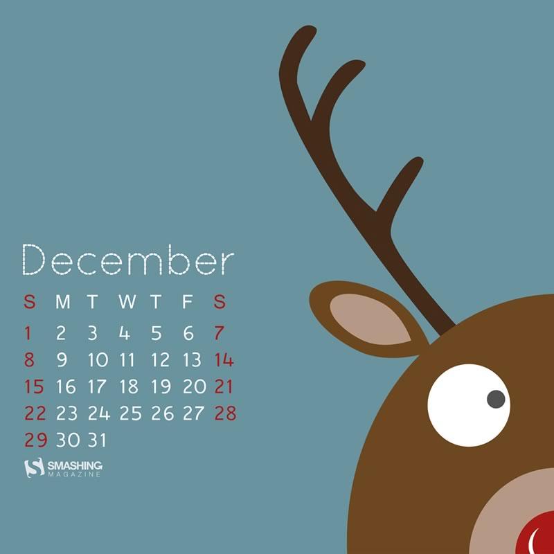 Calendario de Diciembre: Más de 40 fondos de navidad con o sin calendario para decorar tu escritorio - calendario-diciembre-2013-fondo-1