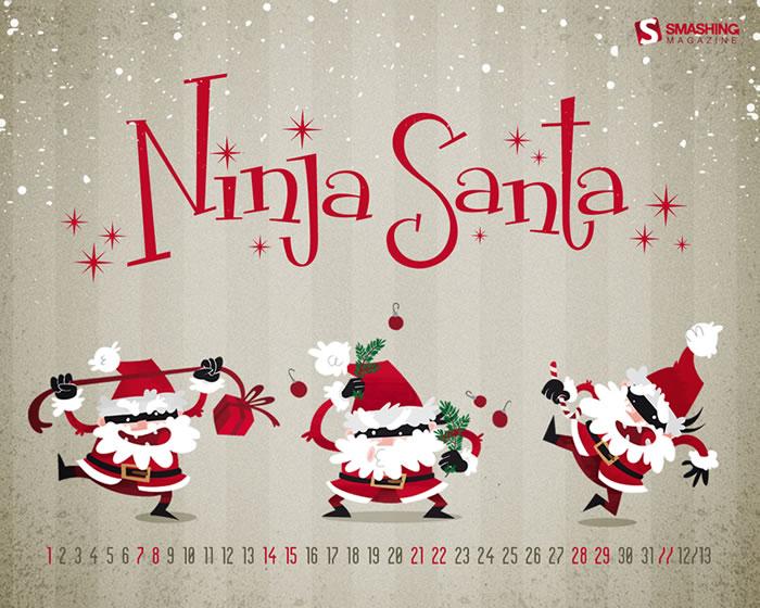 Calendario de Diciembre: Más de 40 fondos de navidad con o sin calendario para decorar tu escritorio - calendario-diciembre-fondo-navidad