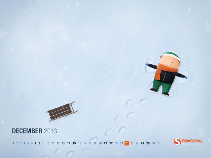 Calendario de Diciembre: Más de 40 fondos de navidad con o sin calendario para decorar tu escritorio - fondos-calendario-diciembre-2013