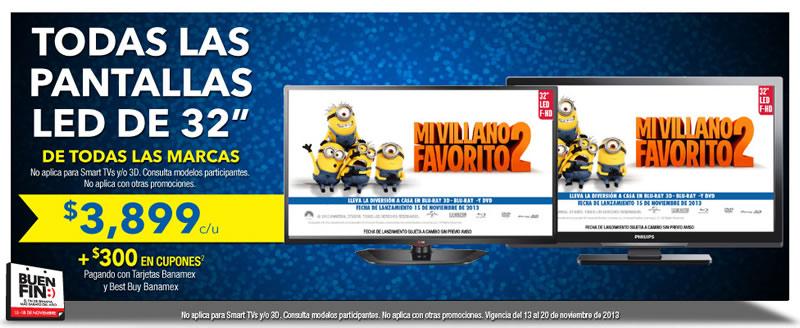 Ofertas del Buen Fin 2013 en pantallas LED, tablets, laptops y más en BestBuy - ofertas-buen-fin-tv-led