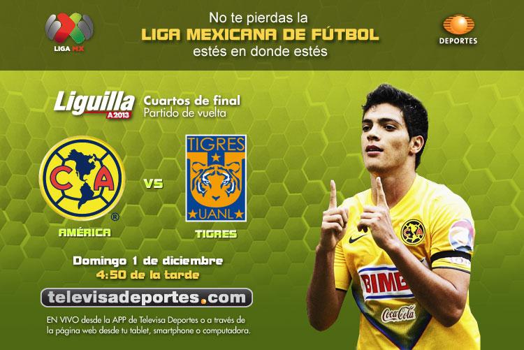 América vs Tigres en vivo, Liguilla 2013 (Partido de vuelta) - ver-america-tigres-liguilla-2013