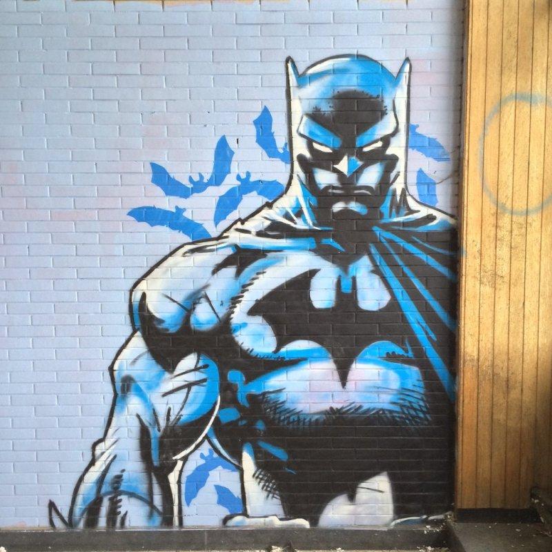 Fabulosos graffitis de Batman encontrados en hospital abandonado - 71
