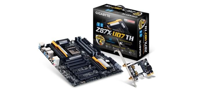GIGABYTE Anuncia Certificación Dual Port Thunderbolt 2 - Z87X-UD7
