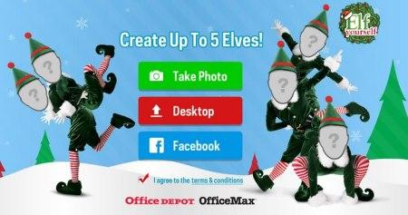 Postales de navidad animadas y divertidas en ElfYourself