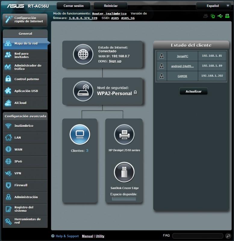 Router ASUS RT-AC56U [Reseña] - interfaz-777x800