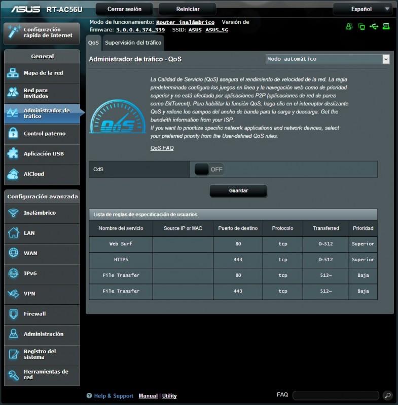 Router ASUS RT-AC56U [Reseña] - interfaz3-785x800