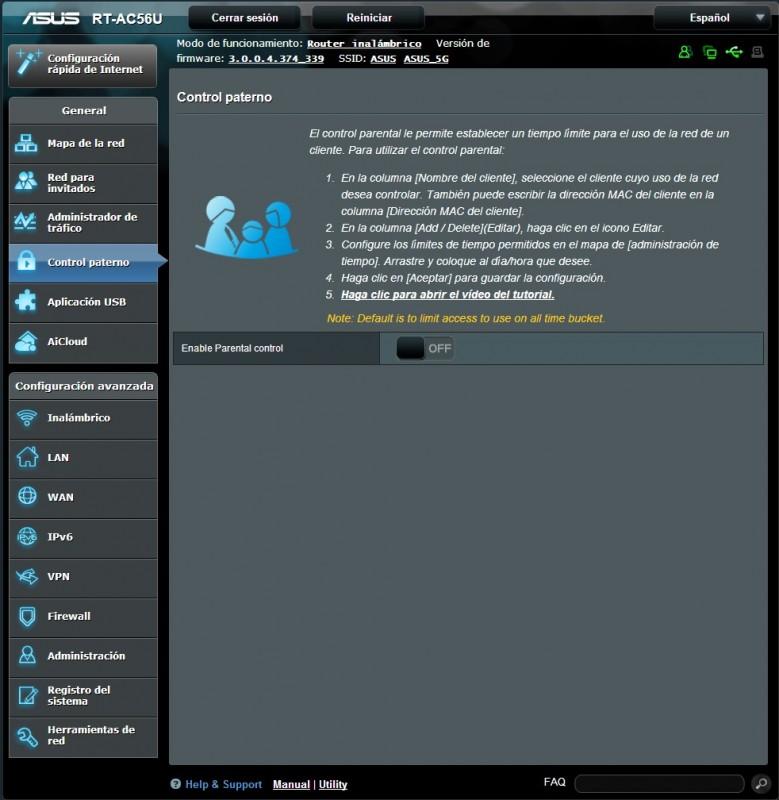 Router ASUS RT-AC56U [Reseña] - interfaz4-779x800