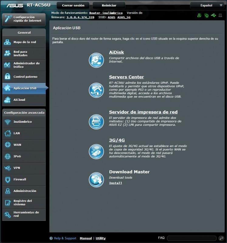 Router ASUS RT-AC56U [Reseña] - interfaz5-747x800