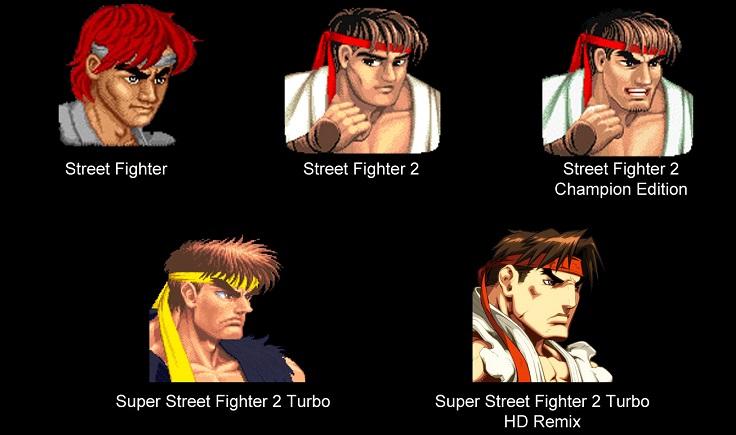 La evolución de RYU (Street Fighter) en una imagen - ryu221