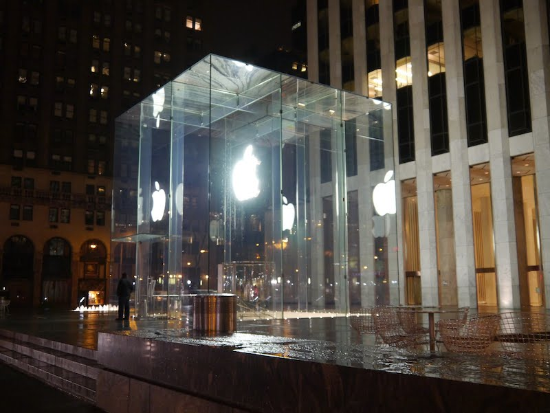 Emblemática Apple Store de la 5ª Avenida en Nueva York es dañada por un quitanieves - Apple-Store