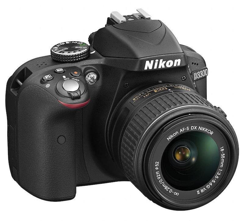 Nikon presenta su nueva cámara DSLR D3300 - NIkon_D3300_BK_18_55_VR2_front
