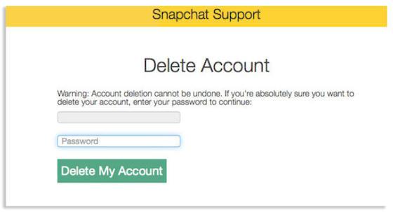 Cómo borrar tu cuenta de Snapchat - Snapchat-borrar-cuenta