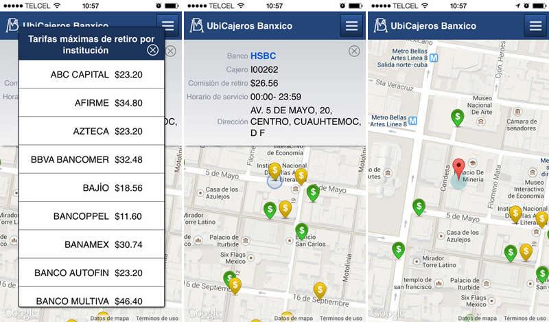 Encuentra cajeros automáticos cercanos en México con UbiCajeros Banxico - cajeros-automaticos-mexico