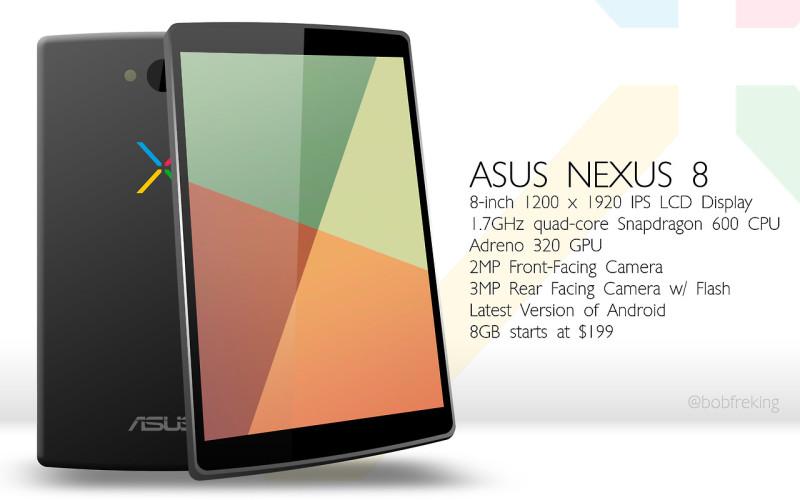 Google se pasaría a Intel con el supuesto Nexus 8 - nexus-8-800x500