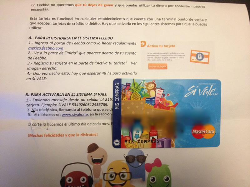 Comprobado, ganar dinero por internet con Feebbo es posible - tarjeta-feebbo-pagos