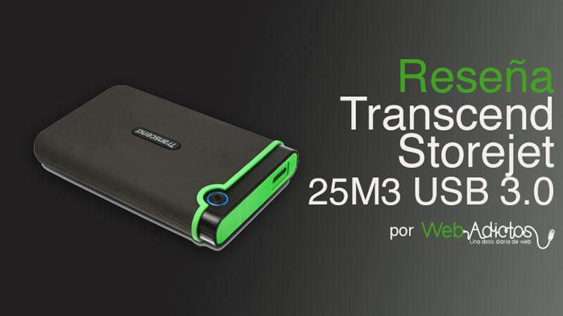 Disco Duro Transcend StoreJet 25M3 USB 3.0 de 1 TB [Reseña]