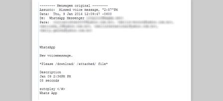 Alerta: Falso mensaje de WhatsApp por correo descarga el virus Zeus