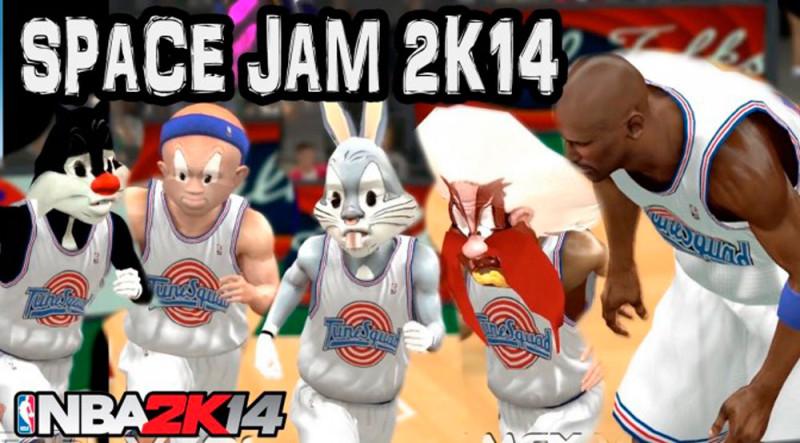 Puedes jugar a Space Jam con este mod para NBA 2K14 de PC - Space-Jam-NBA-2K14-800x443