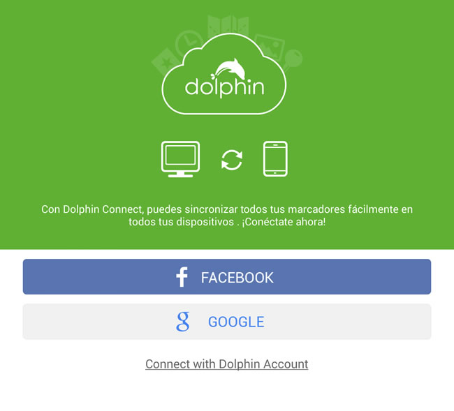 Compartir páginas web del smartphone a la computadora o viceversa - dolphin-connect